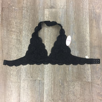 *Lace Bralette Black
