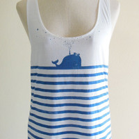Whale Fish Sea Ocean Animal Style Art Fashion Whale by sinclothing