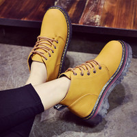 On Sale Hot Deal Dr. Martens With Heel Round-toe Korean Winter Boots [9013546884]