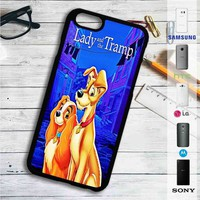 Lady and The Tramp Disney iPhone 4/4S 5 S/C/SE 6/6S Plus 7  Samsung Galaxy S4 S5 S6 S7 NOTE 3 4 5  LG G2 G3 G4  MOTOROLA MOTO X X2 NEXUS 6  SONY Z3 Z4 MINI  HTC ONE X M7 M8 M9 M8 MINI CASE