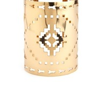 GOLDEN AZTEC CUT-OUT CUFF BRACELET