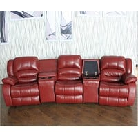 Luxury Leather Recliner Sofa