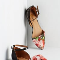 ModCloth Vivid It Up Flat in Roses