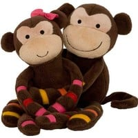 S. S. Noah Plush Monkeys - Momo & Mimi