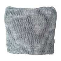 Chunky Knit Blue Gray Pillow Cover