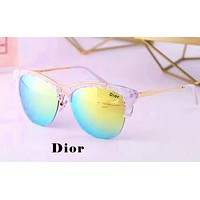 Dior 2019 new men and women models half frame color film polarized sunglasses #4