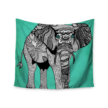 """Pom Graphic Design """"Elephant of Namibia Color"""" Wall Tapestry"""