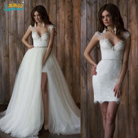 Vestido De Noiva A line short Wedding Dress