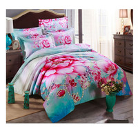 Cotton Active floral printing Quilt Duvet Sheet Cover Sets 2.0M/2.2M Bed Size 63