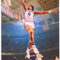 Julius Erving Dr J Slam Dunk Poster 24x34