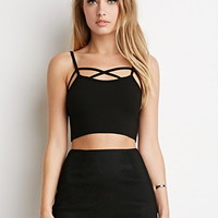 Cutout-Front Cropped Cami