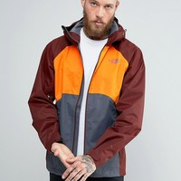 The North Face Sequence Jacket Hooded 3 Colour in Orange/Grey at asos.com