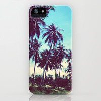 Road of palm trees iPhone Case by Istillshootfilm