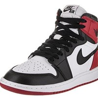 NIKE Air Jordan 1 Retro High OG BG (GS) 'Black Toe 2016 Release' - 575441-125