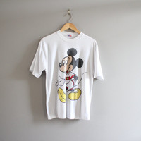 Mickey Mouse Tees / Funny Graphic shirt / Hipster / Disney shirt / Minimalist / T-shirt / Tee / Men's Tee / Vintage / Size L