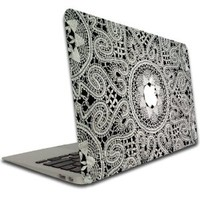 Macbook Air or Macbook Pro (13 inch) Vinyl, Removable Skin - Lace