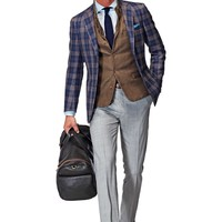 Jacket Blue Check Havana C749 | Suitsupply Online Store