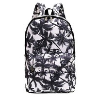 Canvas Palm Tree Backpack Travel Bag School Bag Rucksack Daypack