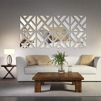 Mirrored Chevron Print Wall Decoration