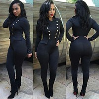 2016 spring women jumpsuit fashion sexy jumpsuit nightclub jumpsuit