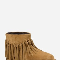 Ugg Wynona Fringe Womens Boots Chestnut  In Sizes