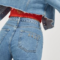 MOTO Mid Blue Babe Mom Jeans