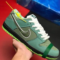 Nike Dunk SB Low Lobster Series Fashion Men Leather Sport Running Shoes Sneakers Green