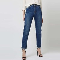 Women Jeans High Waist Classic MOM Pants Denim Jeans Casual Lady Vintage Pencil Jeans Spring Autumn High Quality Pants Plus Size