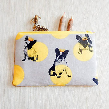 French Bulldog Gift for Women/ Bridesmaid Gift/ Gift for Her/ French Bulldog Make Up Bag/ BFF Gift/ Dog Lover Gift/ Wife Gift/ Sister Gift