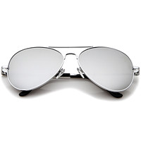 Retro Classic Celebrity Mirrored Lens Metal Aviator Sunglasses 1375
