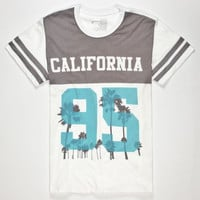 Blue Crown Cali 95 Mens T-Shirt White  In Sizes