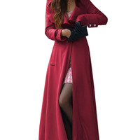 Long Sleeve One-Button Maxi Coat