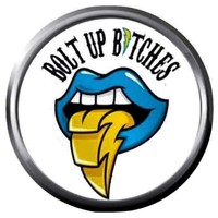 Bolt Up Bitches Chargers NFL Football Logo Tongue 18MM - 20MM Snap Jewelry Charm New Item