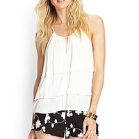 LOVE 21 Floral Embroidered Shorts Black/Ivory