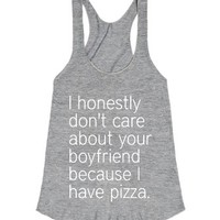 I have pizza-Female Athletic Grey T-Shirt