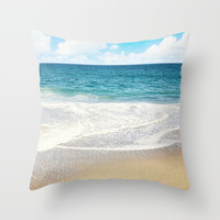 beach vibes Throw Pillow by sylviacookphotography