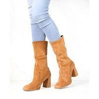 Sbicca - Noelani Corduroy Mid-Calf Boot in Tan