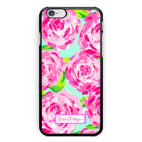 New Lilly Pulitzer Beauty Rose Pattern Hard Plastic Case For iPhone 6s 6s plus