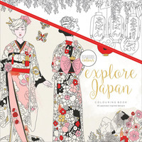 Kaiser Colour Explore Japan Adult Coloring Book