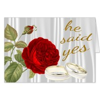 He Said Yes, Red Rose Card