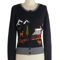 Knitted Dove Chalet of the Land Cardigan | Mod Retro Vintage Sweaters | ModCloth.com