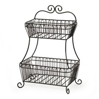 Buy Gourmet Basics by Mikasa® French Countryside 2-Tier Flatback Basket from Bed Bath & Beyond
