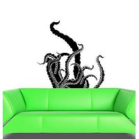 Wall Decal Octopus Tentacles Sea Ocean Beach House Vinyl Sticker Unique Gift (ed025)