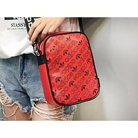 ADIDAS popular fashion casual lady printed shopping shoulder bag Red