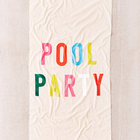 ban.do Pool Party Beach Towel | Urban Outfitters