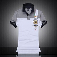 HO new 2018 color matching polo shirts with short sleeves Air force one cotton men's short sleeve, 819