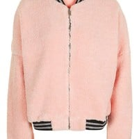 **Pink Oversized Bomber by Jaded London