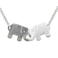"NOVICA .925 Sterling Silver Handmade Animal Themed Pendant Necklace, 17.5"", 'Elephant Friendship'"