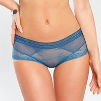Sheer Lace Maxi Brief Panty Sawren Wish