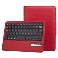 IVSO Samsung Galaxy Tab 2 7.0 Bluetooth Keyboard Portfolio Case - DETACHABLE Bluetooth Keyboard Stand Case / Cover for Samsung Galaxy Tab 2 7.0 Tablet (Red)